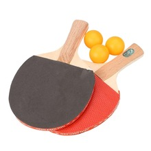 1 Pair Table Tennis Racket Professional Ping Pong Paddle Bat W/3 Balls Sports Training Short Handle