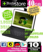 "10.2"" inch 40GB Boda GOOGLE ANDROID Jelly Bean 4.2  TABLET PC CAPACITIVE SCREEN E READER PAD TAB Bundle 10"" Keyboard"