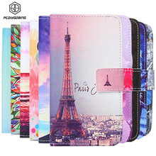 New Wallet Color Painted Book Stand Flip Leather Case For Apple iPhone 4s 4 Credit Card Wolf Smile Owl Effiel Tower case Cover(China)