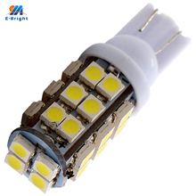 YM E-Bright 300X T10 Car High Power 168 194 W5W 3528 1210 28 SMD 28 Led Wedge Light Signal Bulbs Dome lights white/blue