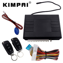 KIMPAI Universal Keyless Entry System Remote Car Locating Central Door Locking Customized Flip Key Blade LED Status Indicator(China)