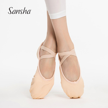 Sansha Adult Canvas Soft Shoes For All Levels Triangular Arch Ballet Slippers With Competitive Price NO.63C