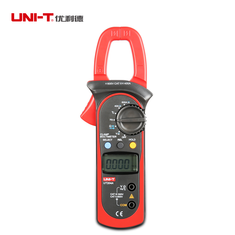 UNI-T UT204A Digital Clamp Multimeter Auto Range Current Voltage Resistance Frequency Testers<br><br>Aliexpress