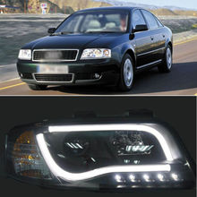 Old A6 Headlight Transform to 2013 A8 5.0T LED Angel Eye for 02-2004 Audi A6