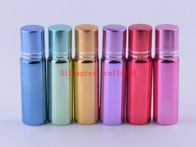 Hot sale 200 pcs/lot perfume glass vials with roll-on ball perfume roll on glass bottle 5ml empty essential oil bottle
