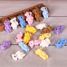 Hot selling 10PC/lot 3.5cm Cute Mini Teddy Bear Plush Kids Toys Stuffed Dolls Pendant Adorable Wedding Gift for Children(China)