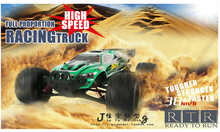 Big RC Car JYRC 9116 1/12 2WD Brushed High Speed RC Monster Truck RTR 2.4GHz Good Children's toy(China)