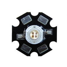 10pcs 940nm 3w 5w deep red led chip  epistar 3w 5w 940nm uv led chip  with 20mm heatsink for plant growing