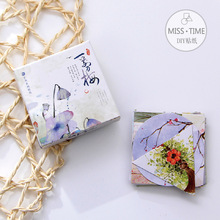 40pcs/lot Plum Flower Stickers Pack Post it Kawaii Diy Scrapbook Sticky Stationery Material Escolar 2016 New School Supplies