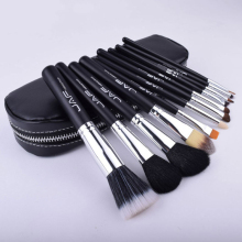 Makeup brush high quality Recommended hot burst of 12 pcs makeup brush beauty tools set Soft bag portable money
