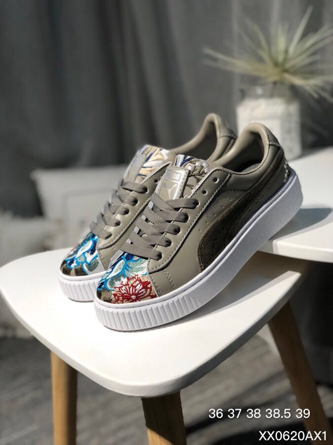ea3500a31128 PUMA Women s Fenty x Cracked Creeper Sneakers Badminton Shoes ...