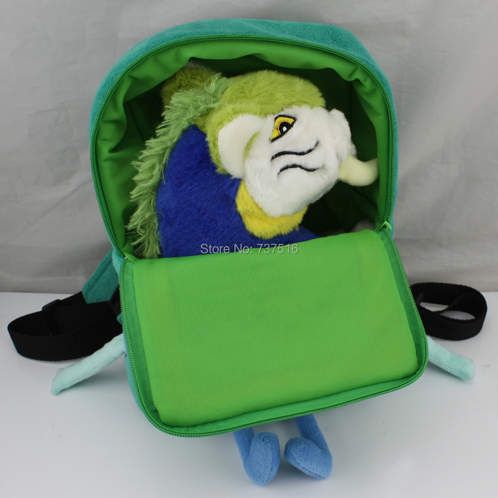New 11Plush Backpacks Adventure Time BMO Beemo Plush Book Bag &amp; MACAWNIVORE Plush Toys X-mas Christmas Gift Two of a Set<br>