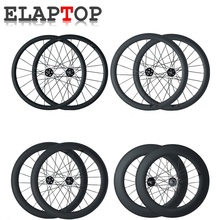 ELAPTOP 700C 23mm width 38 50 60 88mm Clincher Tubular Track Single Speed Wheelset Track Fixed Gear Bicycle Bike Carbon Wheels(China)