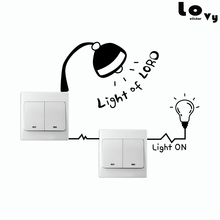 Creative Power Outlet Personalized Switch Sticker Funny Cartoon Vinyl Wall Sticker Home Decor