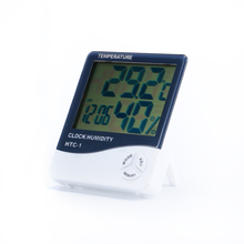 Mini LCD Digital Moisture Meter Thermometer Hygrometer Meter Temperature Humidity Weather Station Alarm Clock HTC-1 Indoor Room(China)