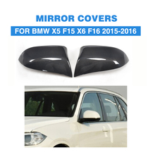 Direct Replacement carbon fiber Wing Mirror Covers for BMW X5 F15 X6 F16 Facelift Auto Side Mirror Caps Car Styling(China)