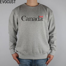 CANADA LOGO Canadian Maple Leaf flag men Sweatshirts Thick Combed Cotton(China)