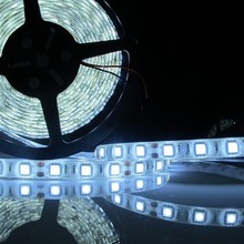 5M 16.4FT 5050 Xenon Epistar White SMD 300 LEDs Waterproof Flexible Strip Light cars party shipping free