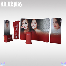 Exhibition Solution High Quality Tension Fabric Banner Stand With Graphic Printing,Expo Portable Advertising Display Wall(China)