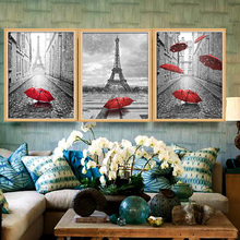 Home Craft Decor DIY Red Umbrella Diamond Painting Cross Stitch Embroidery Diamond Mosaic Needlework Photo Frame Home Decoration
