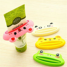 Bathroom Home Tube Rolling Holder Squeezer Easy Cartoon Toothpaste Dispenser Toothbrush Holders(China)
