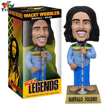 17cm PVC Rock Legend Reggae Bob Marley Lizard King ELVIS PRESLEY Action Figure Collection Toy Doll Head Shake Decoration Triver