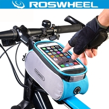 "ROSWHEEL Bicycle Smart Phone Bag Touch Screen Top Frame Tube MTB Road Bike Cycling Storage Bycicle Bolsa For 4.7'' 6.0"" Phone"