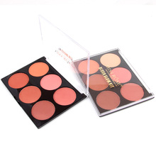 1set Pro 6 Color Makeup Blush Face Blusher Powder Palette Cosmetics Professional Makeup Product