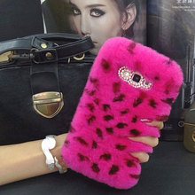 Phone Cases For Samsung Galaxy A3 A5 A7 A8 A9 J2 J3 J5 J7 2016 2017 Note 8 Luxury Diamond Case Rabbit Fur Plush Furry Back Cover