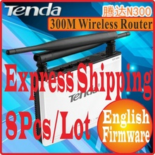 8pcs/Lot Tenda N300 Easy Install 300Mbps Wireless Router Broadband AP Router Range Extender 1 WAN + 3 LAN Ports NO COLOR PACKAGE(China)