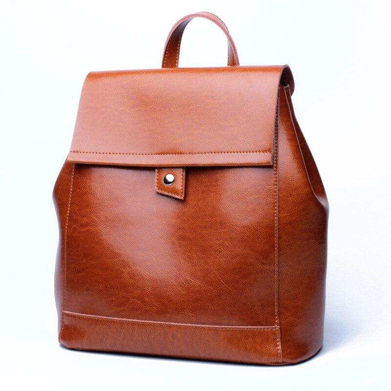 Genuine Leather backpacks for teenage girls Preppy Style Travel Bags backpacks for teenage girls school bags Mochila new C363<br>