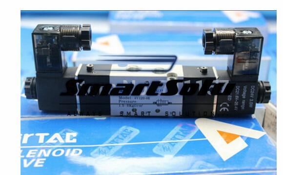 1/8 BSP 5 Way Airtac Air Solenoid Valve 4V120-06 ,Dual Coil 4V120-06 , 24V DC 12V 110V AC220V<br><br>Aliexpress
