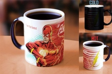 Drop shipping The flash man mugs cold heat changing color coffee mug light magic mug cup best gift for your friends