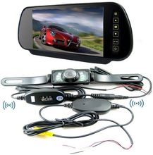 Car Wireless Rear View System! 7 inch Car Monitor car rearview mirror+ 2.4 Wireless rear view camera