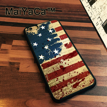 MaiYaCa USA American flag Case For iPhone 7 Cases Slim Rubber Coque For iPhone7 Soft TPU Back Cover For iPhone 7(China)