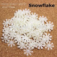 Free shipping 100pcs 15MM White Snowflake Beads Craft ABS Imitation Pearls Flatback For Art Scrapbooking/DIY Decoration(China)