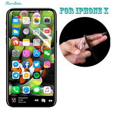 1000pcs/lot DHL 0.1mm Full 3D Curved Film For iPhone X TPU Soft Screen Protector Explosion proof For iPhoneX screen Guard skin(China)