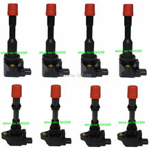 8 Pcs 03-05 For  Honda & For Civic Hybrid 1.3L COMPLETE IGNITION COIL CM11-108 CM11-109  OE # 30520-PWA-003 30521-PWA-003