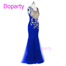 Long Luxury Crystal Mermaid Green Purple Royal Blue Lace Tulle Red Sweetheart Elegant Party Floor Length Evening Dresses 2017