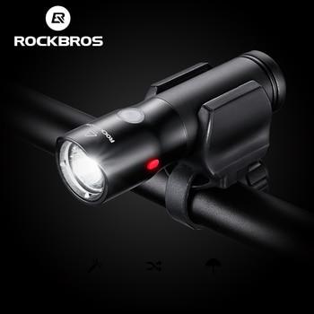 ROCKBROS Vélo Lumière Power Banque Étanche USB Rechargeable Bike Light Côté Avertissement lampe de Poche 700 Lumen 18650 2000 mAh 6 Modes