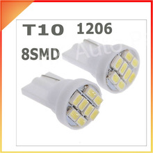 100pcs T10 1206 3020 8SMD w5w 194 168 192 Auto Car Wedge 8 LEDs SMD Clearance Light bulb Lamp Styling Wholesales White(China)