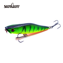 1PC Plastic Pencil Bait Fishing Lure 3D Eyes Wobblers for fishing 7cm/7g Minnow Artificial Hard Bait Fishing Tackle ZB9014(China)