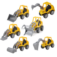6pcs/lot Engineering Vehicle Kids Mini cars toy Construction Vehicle Set Educational Model toys car for children(China)