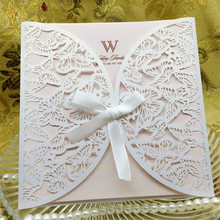 10pcs/set Wedding Party Invitation Card Romantic Decorative Cards Envelope Delicate Lace Cut Carved Pattern Invitations 20 type