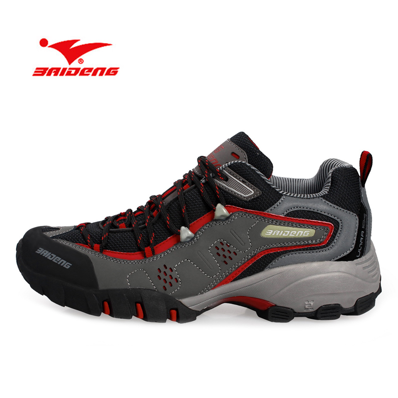 BAIDENG New Arrival Men Outdoor Shoes Suede Genuine Leather Waterproof Shoes Breathable Warm Men Hiking Shoes Anti-Skid<br>