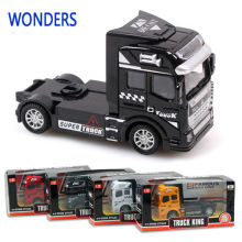 1:50 scale alloy truck , super truck head, pull back alloy model car, children's toys