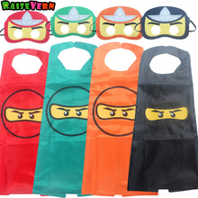 Children Unisex Ninja Ninjago Cape And Mask Set Superhero Costumes For Kids Superman Birthday Party Supplies 3-10T