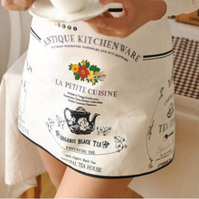 1Pcs French small cooks maid kitchen aprons for womancotton cloth cloth gardening shop coffee bar kitchen apron  8Z