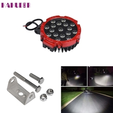 New 51W 7Inches Red Spot Round Led Work Light Off Road Fog For SUV Boat Jeep Lamp OCT11