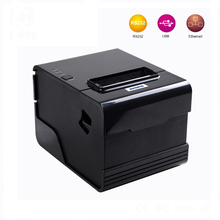 Wired pos printer 80mm termal printer with serial+USB+Lan port specialized for Kitchen background system built-in QR program